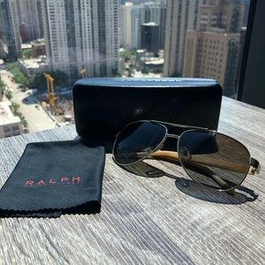 Ralph Lauren Polarized Aviator Sunglasses